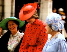 With Princess Margaret and the Queen Mother.