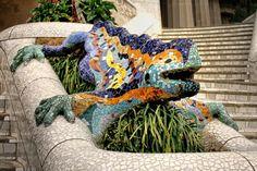 "/ Photo ""Gaudí's Salamander"" by Carlos Gotay Antoni Gaudi, Blanket, Barcelona Spain, Classroom, Park, Garden, Scouts, Class Room, Gaudi"