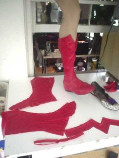Super girl boots and cape