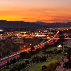 Medford at sunset. Pretty!