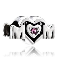 Pugster  Sterling Silver Gold Mom Mother European Bead Fit Charm Bracelet | eBay