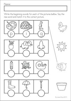 Kindergarten SPRING Math & Literacy unit. 93 pages in total. A page from the unit: Mystery CVC words