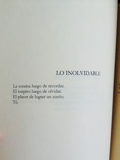 Lo inolvidable