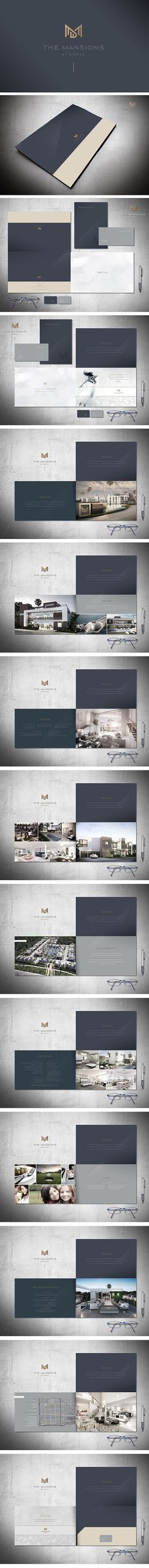The Mansions at Doral brochure by Hector Batista, via Behance