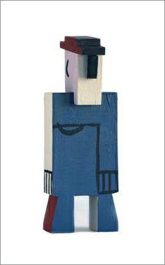 Joaquín Torres García- Hombre azul  #TorresGarcía #juguetes antiguos #vintage toys