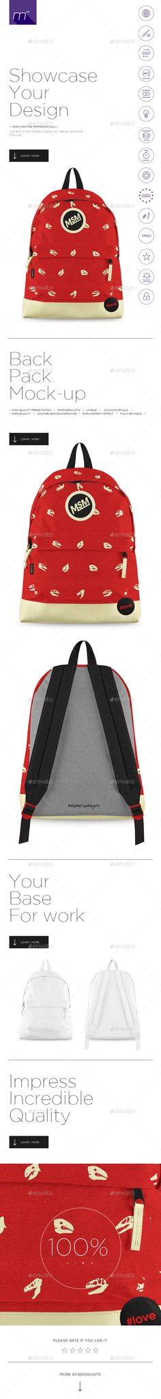 dcb9343c28 Buy Backpack Mock-up by mesmeriseme pro on GraphicRiver. About If you are  searching mock-ups for professionals