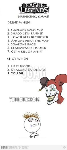 League of Legends drinking game