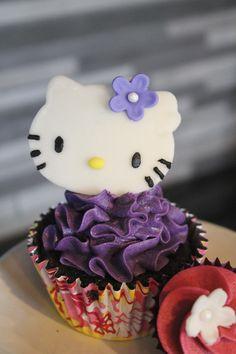 Purple Hello Kitty Cupcakes