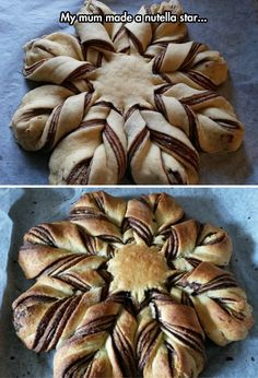A Nutella Star - otherwise known as an Autumn Star