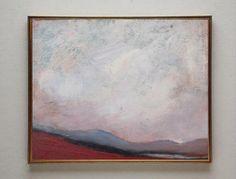 Misty October - Original Oil Painting Wall Art Abstract Painting Landscape Painting - daily painting - canvas panel   6x8