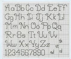 Free Cross Stitch Pattern: Cursive Backstitch Alphabet – By She - 236x197 - jpeg