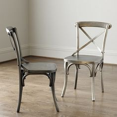 """Constance Metal Side Chairs - Set of 2. Overall: 35""""H X 19 3/4""""W X 21 3/4""""D Seat: 19""""H X 17 3/4""""W X 16""""D. $499."""