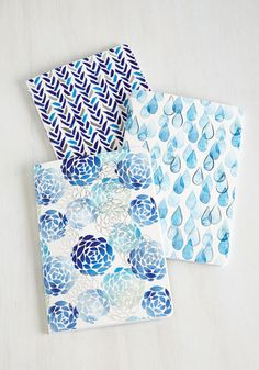 Your Point of Blue Notebook Set - From The Home Decor Discovery Community at www.DecoandBloom.com
