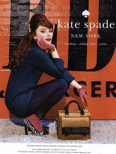 Love these all of the Bryce Dallas Howard for Kate Spade ads