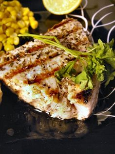 Yellowfin Tuna Steak Marinade | Yogurt-Herb Yellowfin Tuna | fruippé Fresh Fish Recipes, Seafood Recipes, Paleo Recipes, New Recipes, Cooking Recipes, Paleo Food, Favorite Recipes, Side Dishes For Fish, Fish Dishes