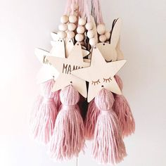 Ins Kids Room Decoration Crafts Sleepy Eyes Wood Eyelash Wall Hanging Stars Decorative Beads Tassel Photography Props Bead Crafts, Decor Crafts, Diy And Crafts, Room Crafts, Hanging Stars, Little Presents, Decorative Beads, Wooden Stars, Star Decorations