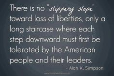 "Simpson quote on ""Loss of Liberties""  and an article on Mandatory Vaccines."