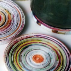 Paper coiled coaster