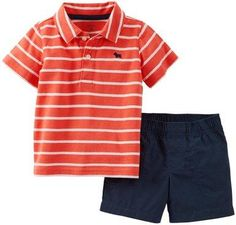 Carter's stripe polo and shorts set $11.00