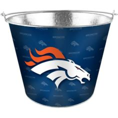 Denver Broncos Metal Pail - Party City