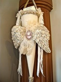 Great idea for holding birthday party favors or wedding program holders to be hung on chairs.