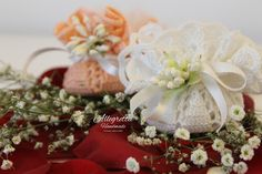 Centrino bomboniera per cerimonia. Battesimo, Comunione, Cresima, Laurea, Matrimonio B006