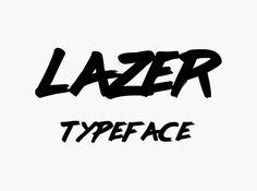 Typographie : Elle est gratuite et elle s'appelle « Lazer » Free Font