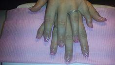 Roze glitters bloempjes en stipes