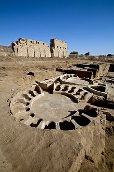 Egypt - Luxor - East bank - Karnak. bath from ptolemaic period