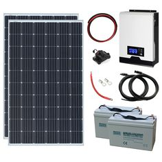 600W 24V Complete Off-grid System with 2 x 300W Solar panels & Hybrid inverter · $999.99 Off Grid Inverter, Off Grid System, Sine Wave, Off The Grid, Solar Panels, Sun Panels, Solar Power Panels, Off Grid