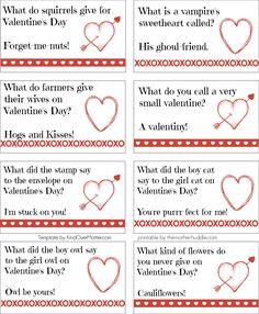 Printable Valentine Joke Notes Crafthubs
