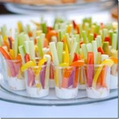 I love this idea......no double dipping! Each guest has his/her own!