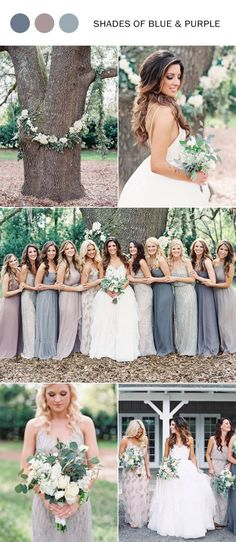 2017 trending shades of blue and purple wedding colors