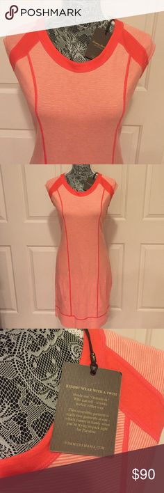 New Tommy Bahama Reversible Resort Dress This reversible garment is really 2 garments in one which comes in handy when you're trying to pack light for paradise. Size tag say CS but run a bit big and also has a lot of stretch that will fit from XS - M (984062) Tommy Bahama Dresses