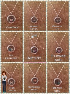 Origami Owl Mini Lockets.  Available in gold or silver.  Perfect gift for your little princess!