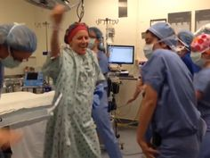 What a wonderful way to start a new journey! Remember to always love, laugh, and dance! What do you do before a double mastectomy? Dance, of course