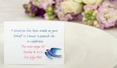 wedding favour cancer research swallow - Google Search