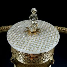 Filigree Cherub Powder Dish Vanity Dish Hollywood Regency Angel Ring Dish Trinket Box Vanity Tray Dresser Tray Jewelry Box by OldGLoriEstateSale on Etsy