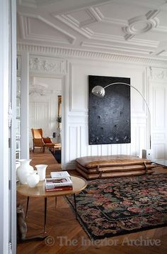 modern furnishings in a classical space