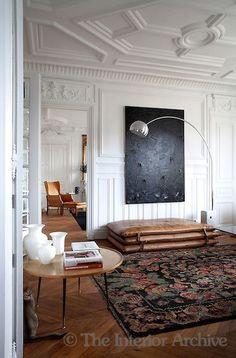 modern furnishings in a classical space