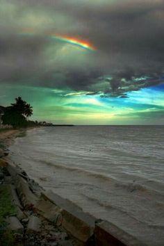 Landscape And Nature Beautiful Sky, Beautiful Landscapes, Beautiful World, Beautiful Places, Rainbow After The Rain, Rainbow Sky, Rainbow Beach, All Nature, Amazing Nature