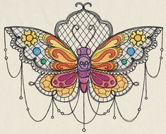 Bella Muerte - Polilla | Urban Threads: Unique and Awesome Embroidery Designs