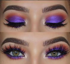Bold metallic purple eyeshadow