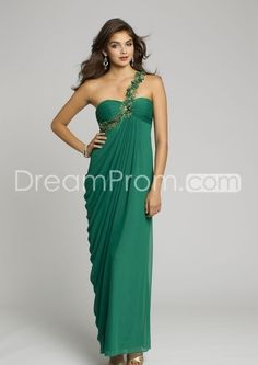 $99 2014 New Mesh One Shoulder Long Dress Prom Dresses
