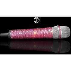 Microphone made with SWAROVSKI ELEMENTS (Rose) ($690) ❤ liked on Polyvore featuring microphones, music, performing, electronics and instruments