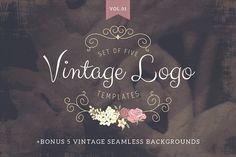 Vintage logo templates Vol 1 - Logos