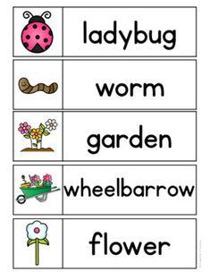 Spring Word Wall Words {FREE} Spring Activities, Literacy Activities, Seasons Activities, Language Activities, Beginning Of Kindergarten, Kindergarten Writing, Preschool Garden, Preschool Prep, Preschool Learning