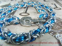 Silver and Turquoise Byzantine BDSM Slave by aislinnscollared