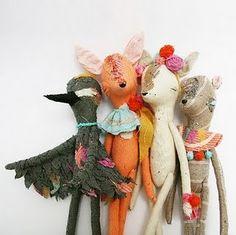 handmade dolls - cuuuuuuuuuuuute!!!!!