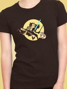 182d1c103 Camiseta Rey Star Wars. Diseño original de Mindangos inspirada en Las  aventuras de Tintín.